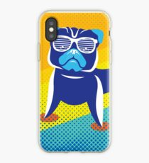 Cool Pug With Glasses Funny Dog Rescue iPhone Case