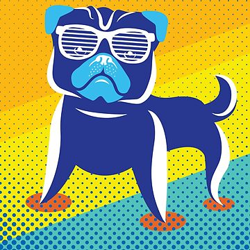 Cool Pug With Glasses Funny Dog Rescue by Chickini