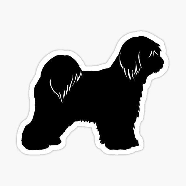Tibetan Terrier Silhouette (n) Sticker