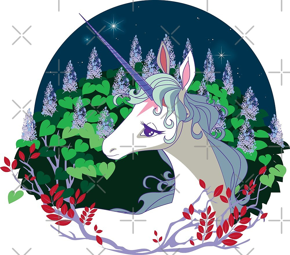 .The unicorn lived in a lilac wood. by infamousred