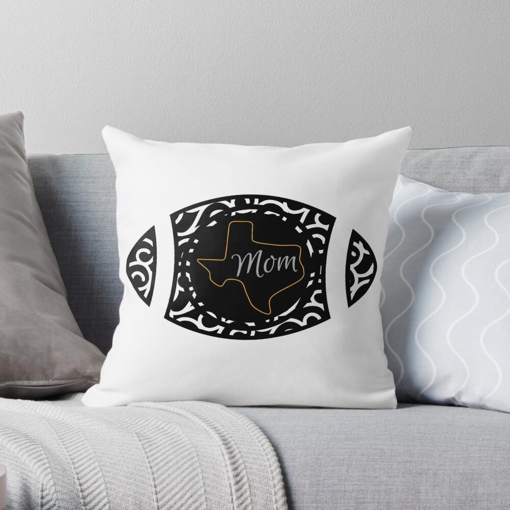 Texas Football Mom Throw Pillow
