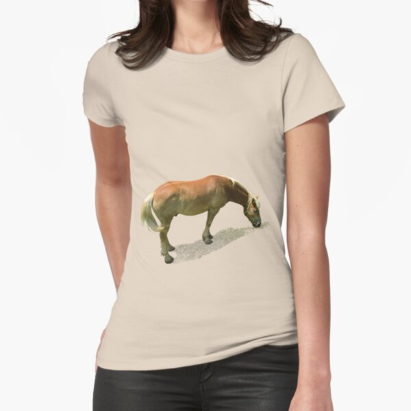 Horse from Kristberg (T-Shirt & iPhone case) Fitted T-Shirt
