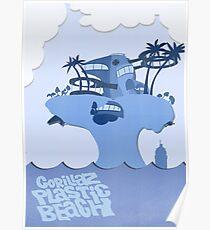 Gorillaz Plastic Beach Poster [BLUE] Poster