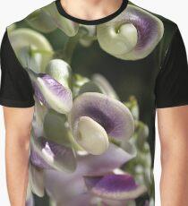 Corkscrew Vine Flower Graphic T-Shirt