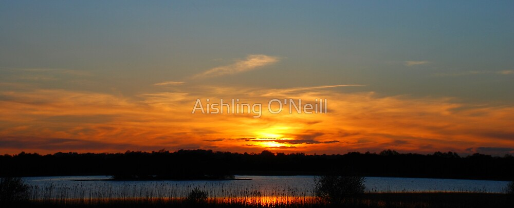 Lake Derragh Sunset, Ireland by Aishling O'Neill