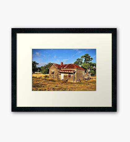 Weathered in Age Framed Print