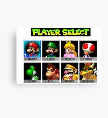 Player Select Mario Kart N64 Canvas Print
