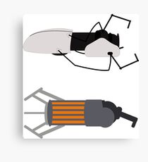 Gravity and Portal Gun Canvas Print