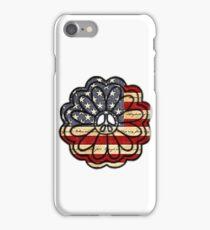 American Flag Peace Flower  iPhone Case/Skin