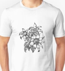 Pen and Ink Flowers T-Shirt