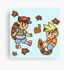 Tanooki cuties Canvas Print