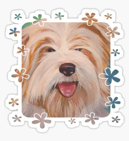 Cute Terrier Portrait Vector  Sticker