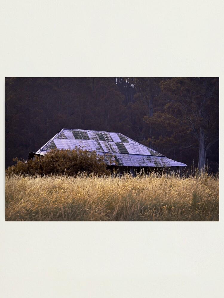 Alternate view of Farm House, near Judbury, Tasmania Photographic Print