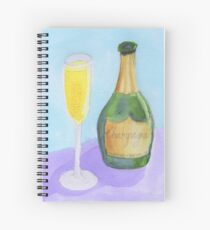 Champagne Celebrate Congratulations Spiral Notebook