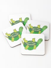 """Tip Me Over"" Turtle Coasters"