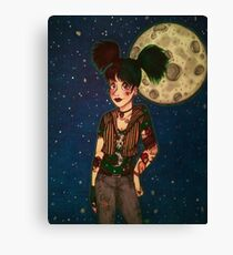 Goth Girl at Night Canvas Print