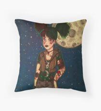 Goth Girl at Night Throw Pillow