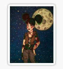 Goth Girl at Night Sticker