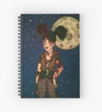 Goth Girl at Night Spiral Notebook