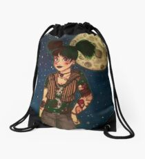 Goth Girl at Night Drawstring Bag