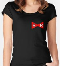 Android 17 Red Ribbon Army Women's Fitted Scoop T-Shirt