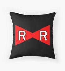 Android 17 Red Ribbon Army Throw Pillow