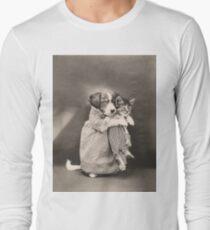Puppy giving kitten a snuggle T-Shirt