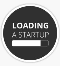 Loading a Startup (Dark Gray) Sticker