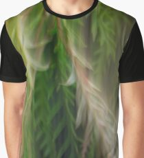 Fleur Blur Series-Abstract Decorative Leaves Graphic T-Shirt