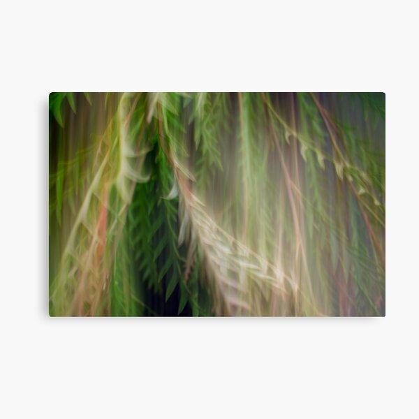 Fleur Blur Series-Abstract Decorative Leaves Metal Print