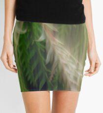 Fleur Blur Series-Abstract Decorative Leaves Mini Skirt