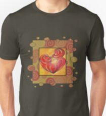 Kissing Couple Embrace And Form A Heart Vector T-Shirt