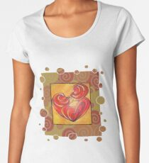 Kissing Couple Embrace And Form A Heart Vector Women's Premium T-Shirt