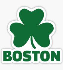 Boston shamrock Sticker