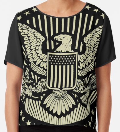 Great Seal of The United States Of America Chiffon Top