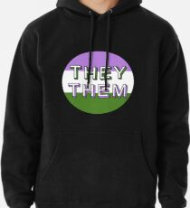 They/Them - Genderqueer Pullover Hoodie