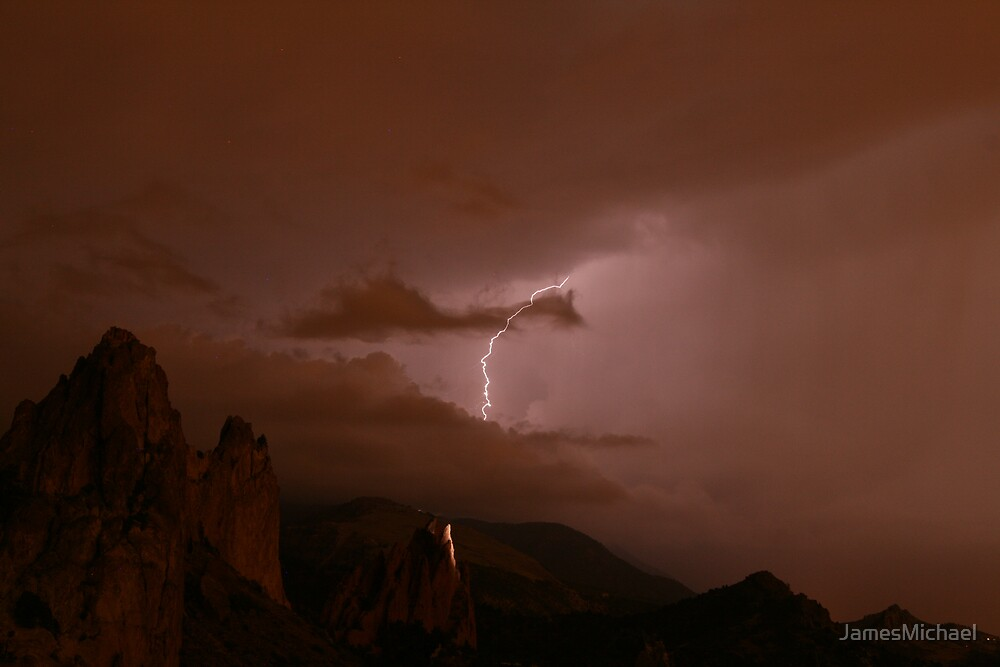 Lightning in the Garden by JamesMichael