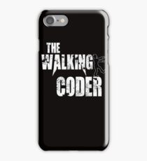 Coder Coding Codes Funny Walking zombie Halloween gift t shirt programmer iPhone Case/Skin