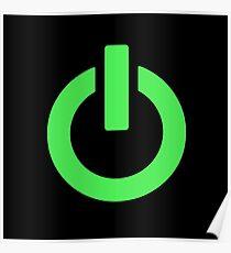 Power Button (green) Poster