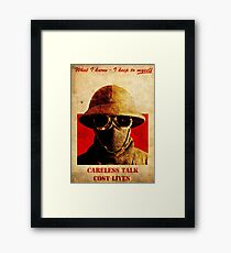 Fallout New Vegas : Careless Talk Costs Lives Poster Framed Print