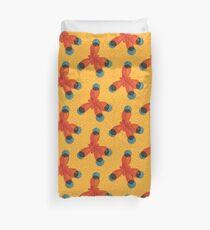 Just An Orange Methane Molecule Organic Chemistry Duvet Cover