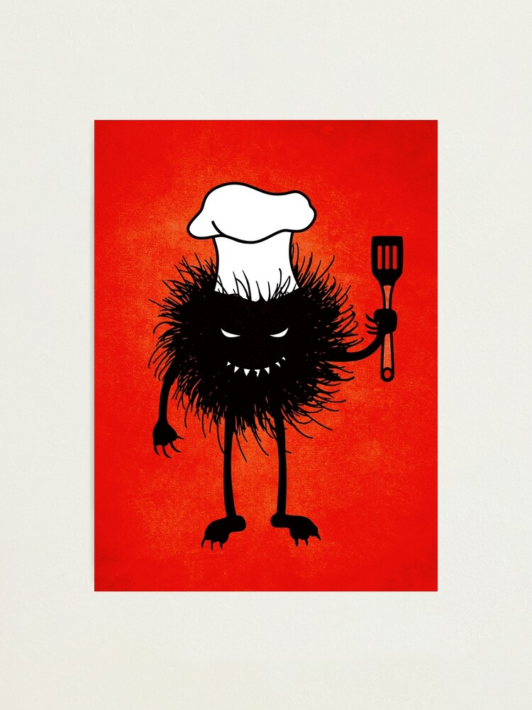 Alternate view of Evil Bug Chef Loves To Cook Photographic Print