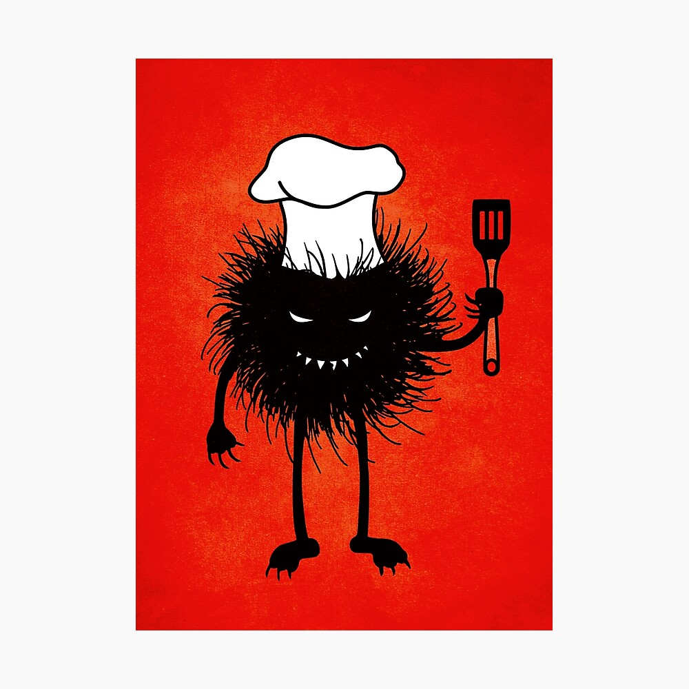 Evil Bug Chef Loves To Cook Photographic Print