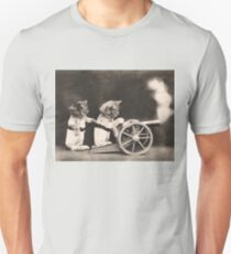 Kittens setting off a cannon. Fire! T-Shirt