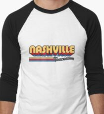 Nashville, TN | City Stripes Men's Baseball ¾ T-Shirt