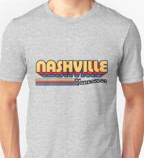Nashville, TN | Stadt Streifen Slim Fit T-Shirt