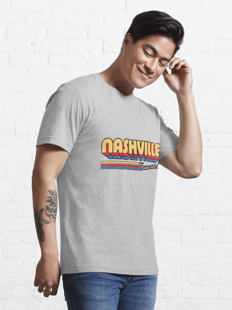 Alternate view of Nashville, TN | City Stripes Essential T-Shirt