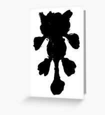 Black stylized cat silhouette Greeting Card