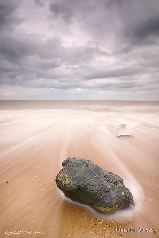 Stormy Backwash  by Christian Davies