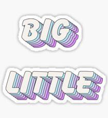 pop art - big little Sticker